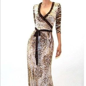 Dresses & Skirts - Women Casual Ankle Length Animal  Print Maxi Dress